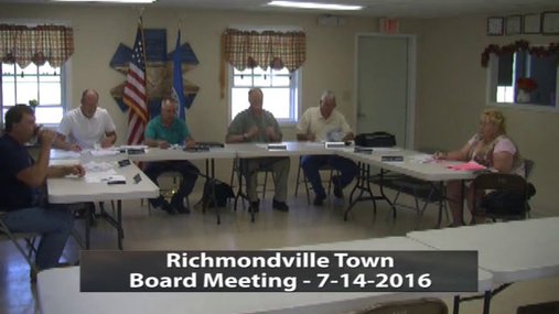 Richmondville Town Board -- 7-14-2016