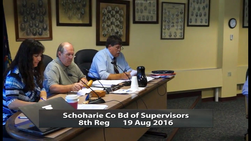 Schoharie Co Bd of Supervisors 8th Reg  -- 19 Aug 2016
