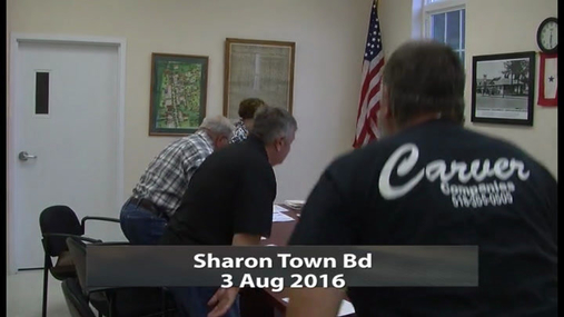 Sharon Town Bd -- 3 Aug 2016