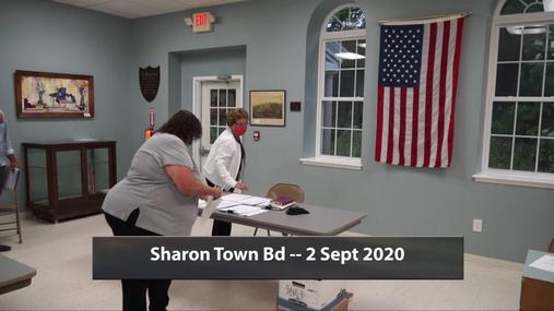 Sharon Town Bd -- 2 Sept 2020