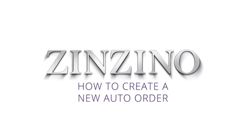 6. Creating a new Auto Order