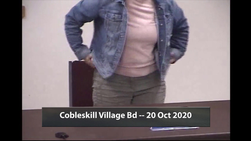 Cobleskill Village Bd -- 20 Oct 2020