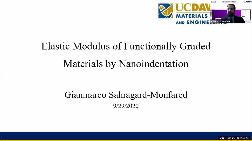 Elastic Modulus of Functionally Graded Materials by Nanoindentation