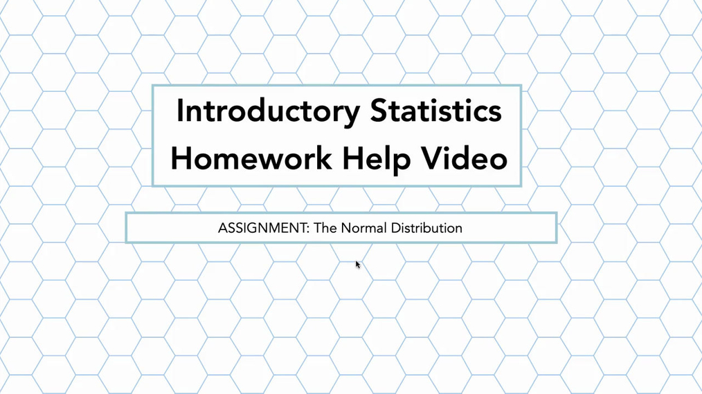 Stats The Normal Distribution HH Vid.mp4