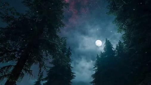 Moonlight in the fog
