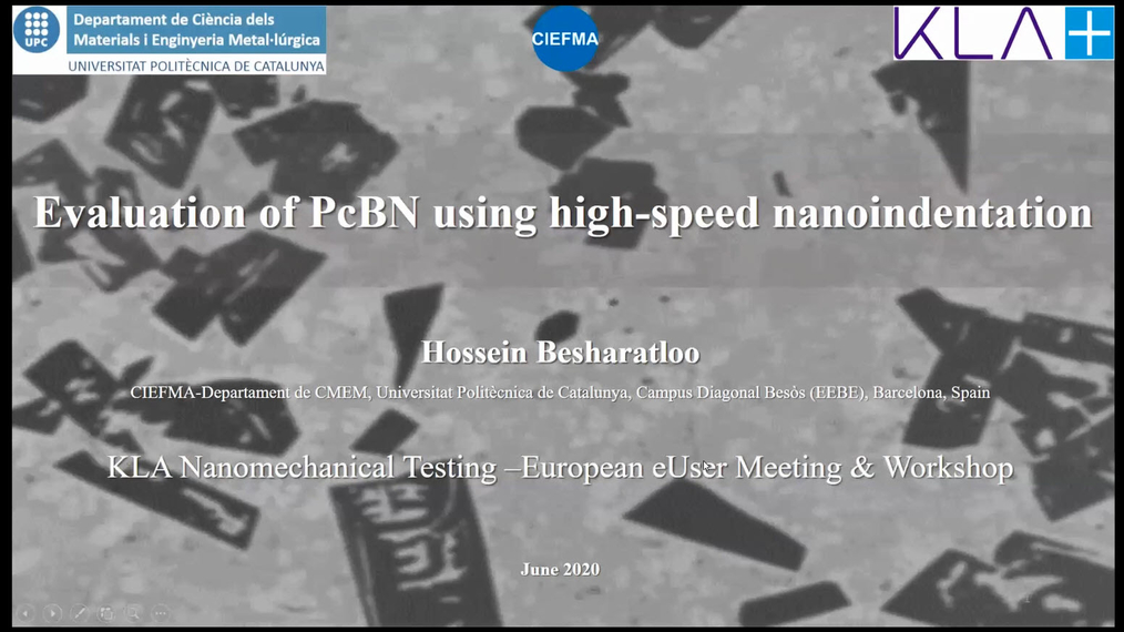 Hossein Besharatloo: Evaluation of PcBN using high-speed nanoindentation