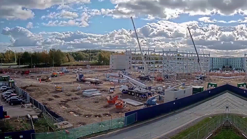 Stansted multi-storey car park construction time-lapse