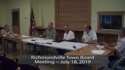 Richmondville Twn Brd -- July 18, 2019