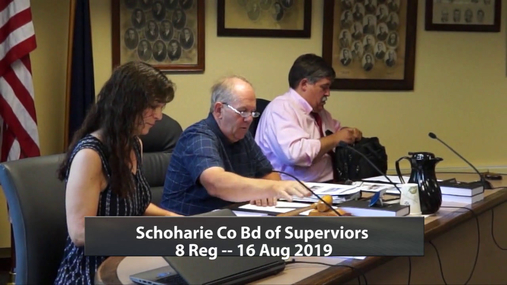 Schoharie Co Bd of Supervisor 8th Reg  -- 16 Aug 2019