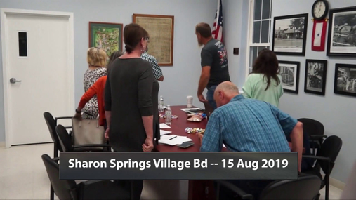 Sharon Springs Village Bd -- 15 Aug 2019