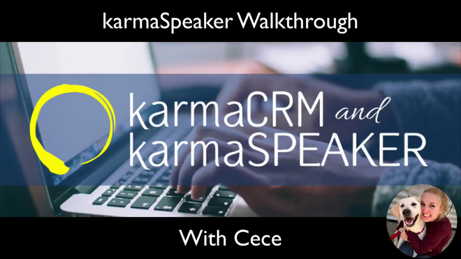 Overview of a karmaSpeaker Account