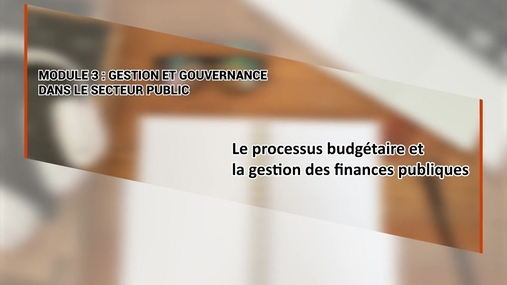 Le processus budgétaire et la gestion des finances publiques