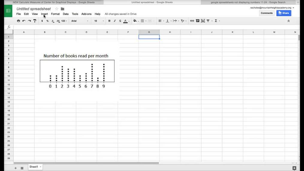 Calculating Measures of Center in Google Spreadsheets cont....mp4