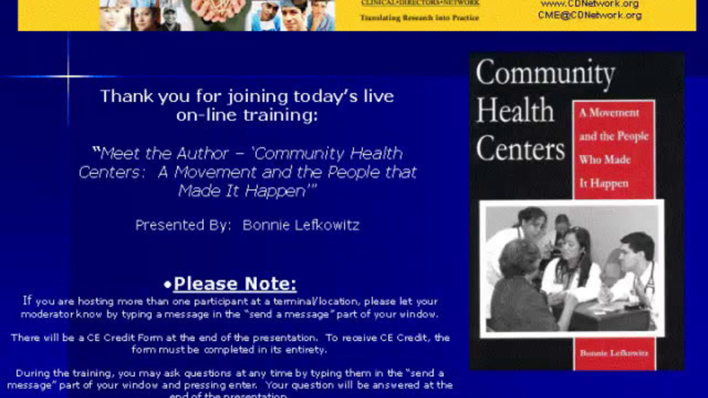 """Meet the Author """"Community Health Centers: A Movement and The People That Made It Happen"""""""