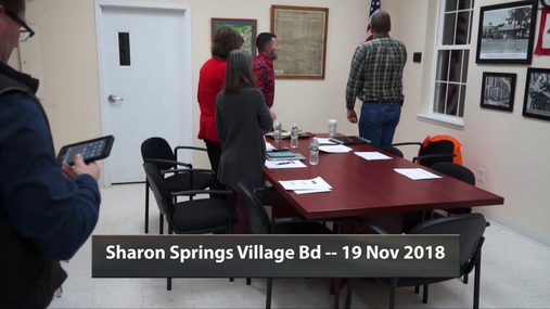 Sharon Springs Village Bd -- 19 Nov 2018
