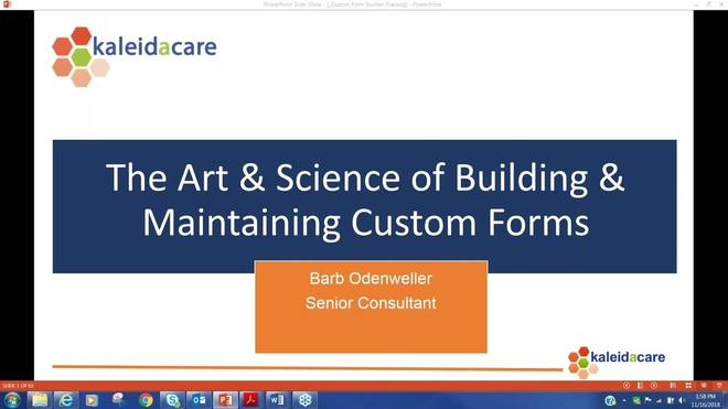 Free Training Friday 2018-11:  The Art and Science of Building & Maintaining Custom Form Templates