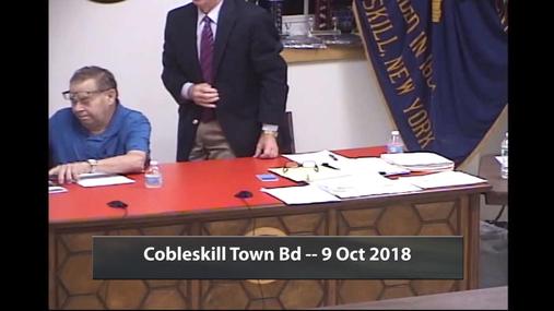 Cobleskill Town Bd -- 9 Oct 2018