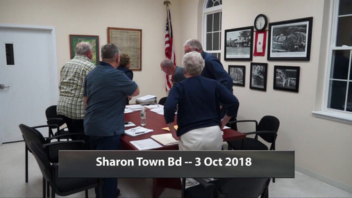 Sharon Town Bd -- 3 Oct 2018