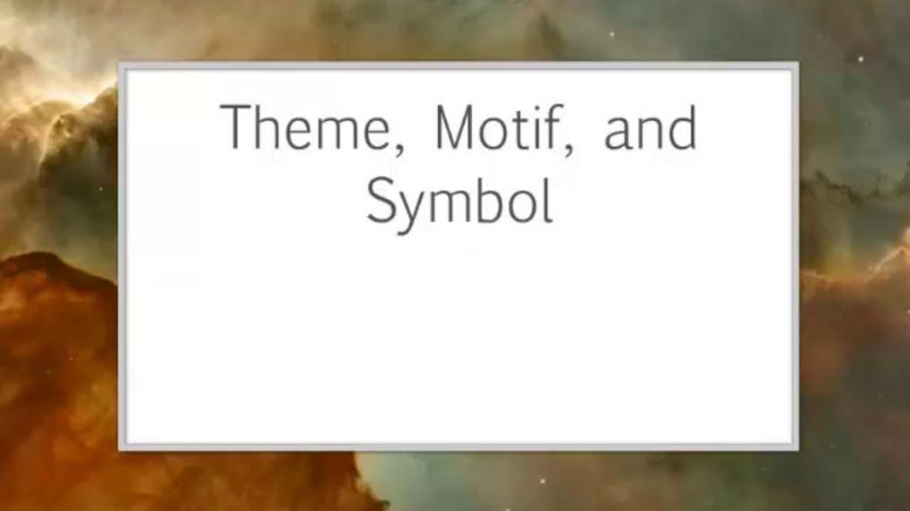Theme, Motif, Symbol.mp4