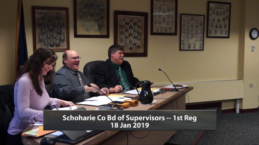 Schoharie Co Bd of Supervisors -- 1st reg --18 Jan 2019