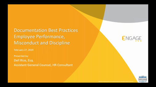 February 2020 HR Webinar - HR Documentation Best Practices