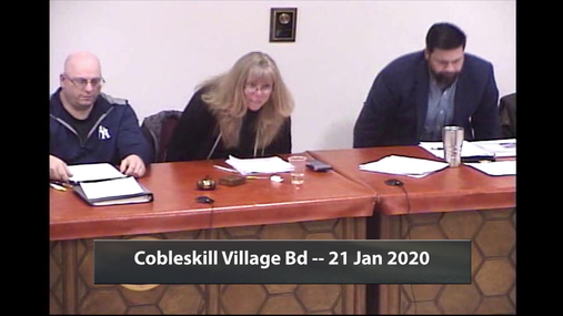 Cobleskill Village Bd -- 21 Jan 2020