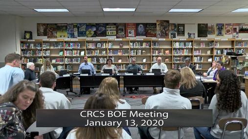 CRCS BOE -- Jan. 13, 2020