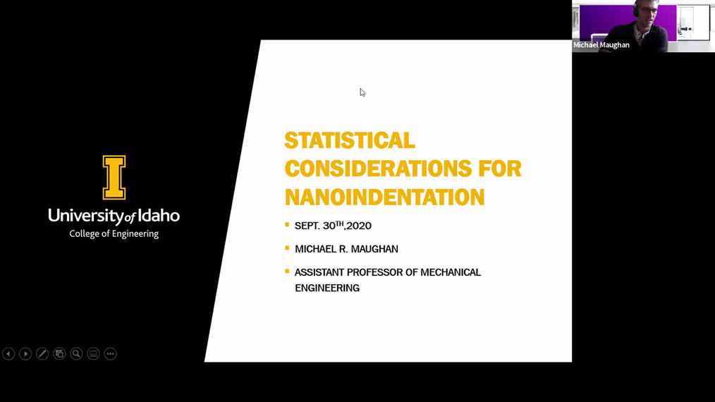 Statistical Aspect of Nanoindentation Applications