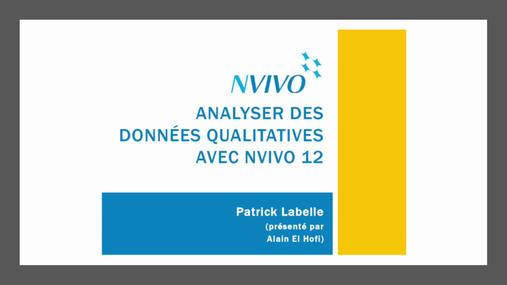 Analyse de données avec NVivo 12