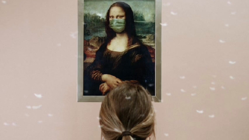 Mona Lisa in face mask