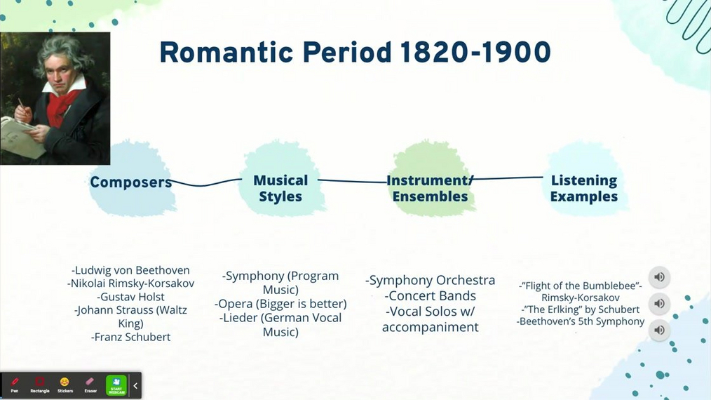 LESSON: Music through the Ages from Romantic to Modern