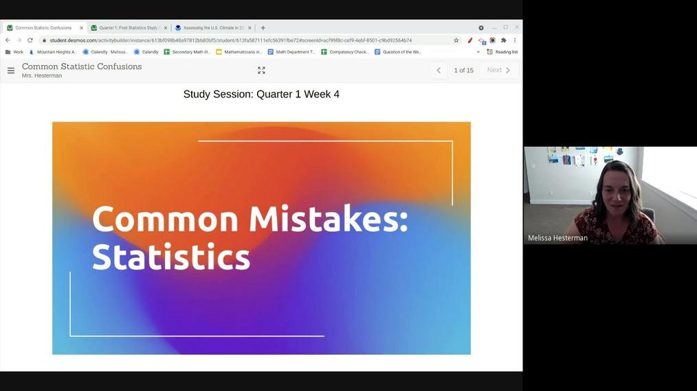 SMIII Honors Q1 Week 4 Study Session 2021