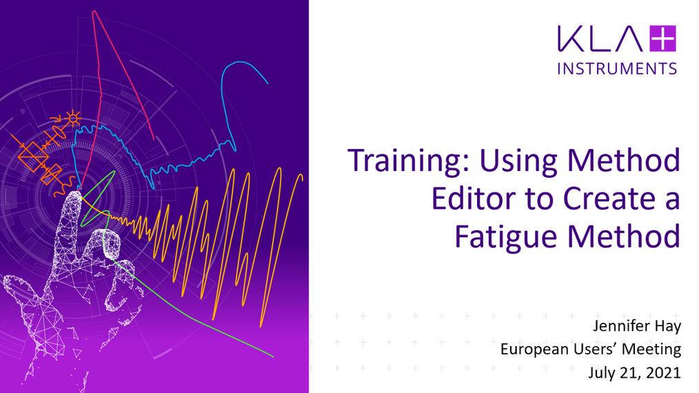 InView Method Editor Fatigue Method