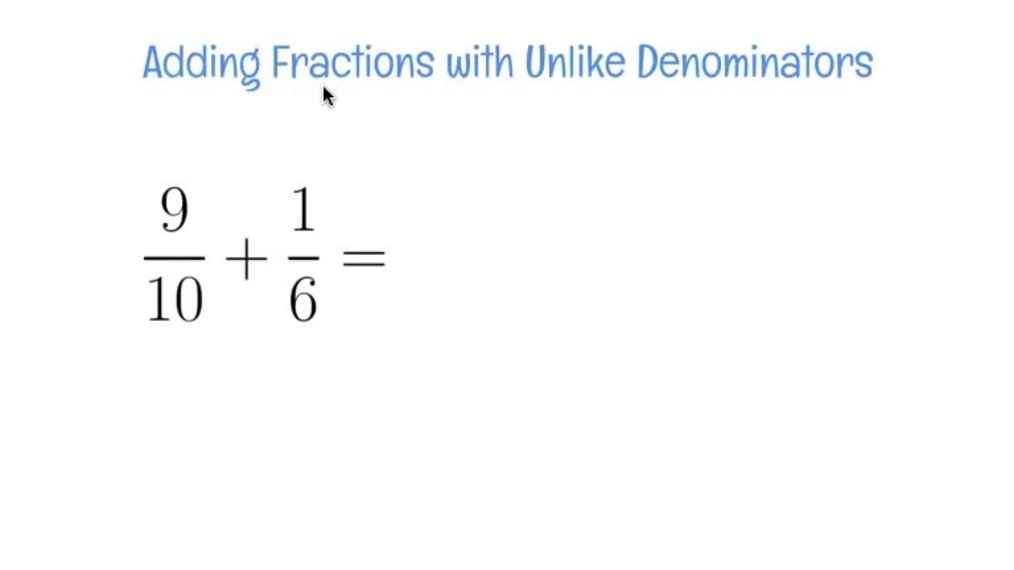 Review - Adding Fractions with Unlike Denominators Example.mp4