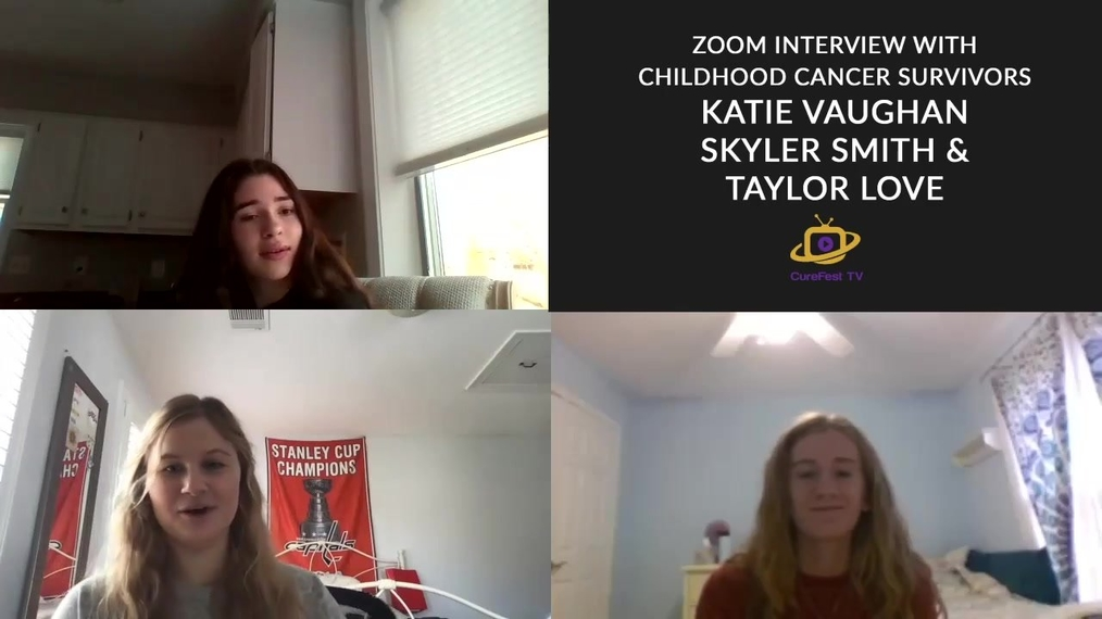 Childhood cancer survivors Katie, Skyler and Taylor