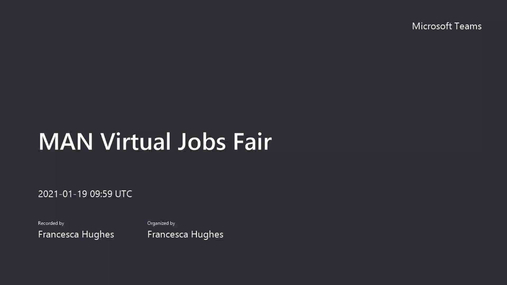 MAN Virtual Jobs Fair Jan 1/2