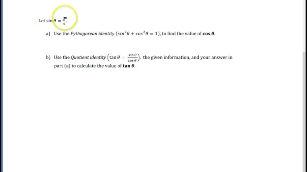 Using the Pythagorean and Quotient Identity.mp4