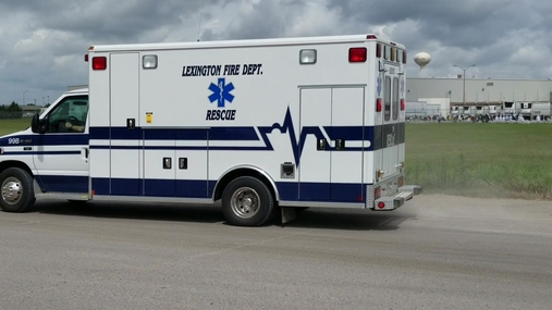 Rescue unit departs Tyson, inc beef complex in Lexington