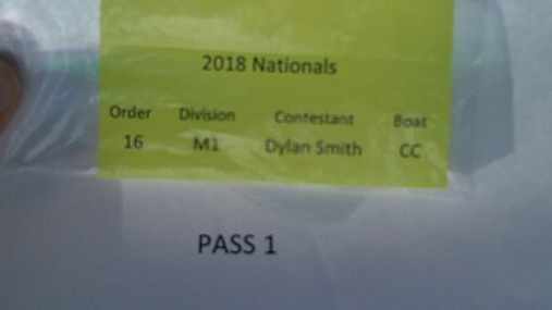 Dylan Smith M1 Round 1 Pass 1