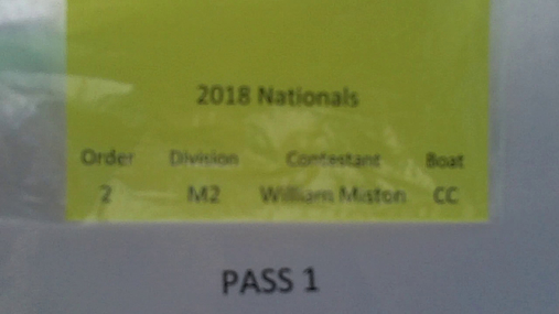 William Miston M2 Round 1 Pass 1
