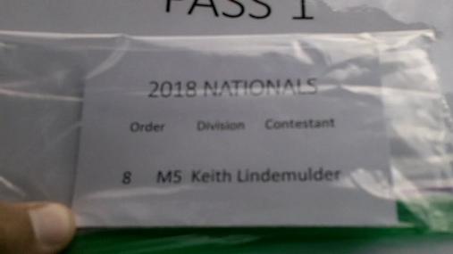 Keith Lindemulder M5 Round 1 Pass 1