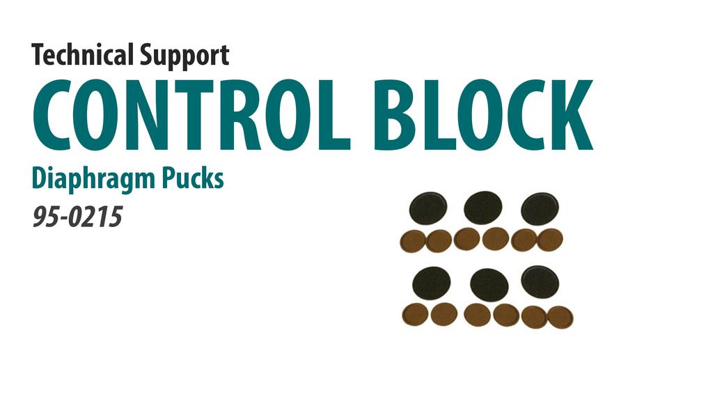 Replace the Control Block Diaphragm Pucks [66-4007]