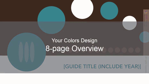 Benefits Enrollment Guide 8-page Your Colors design by The HR Trove