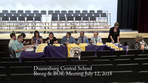 Duanesburg Reorg & BOE -- July 12, 2018