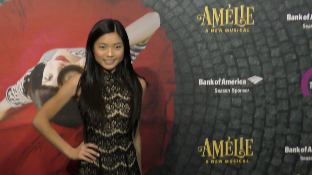 Ashley Liao at the Amelie A New Musical Opening Night at Ahmanson Theatre in Los Angeles.mp4