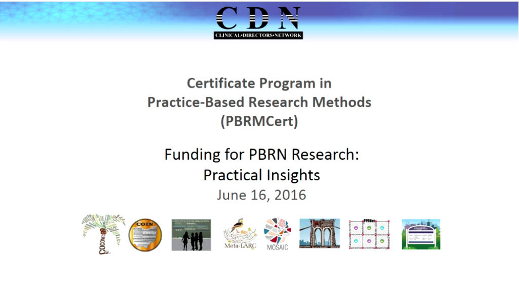 Funding for PBRN Research Practical Insights
