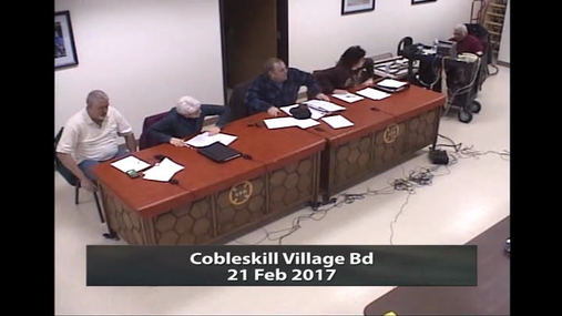 Cobleskill Village Bd_21 Feb 2017