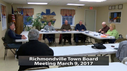 Richmondville Twn. Board -- 3-9-2017