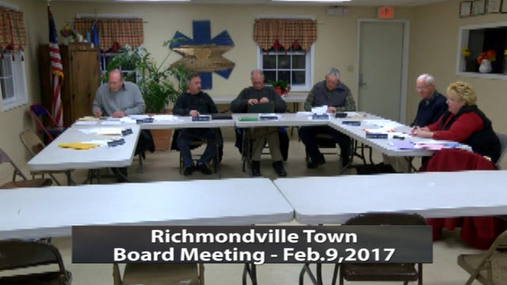 Richmondville Tw. Board -- 2-9-2017