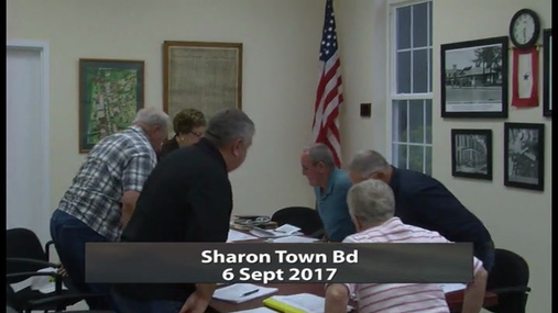 Sharon Town Bd -- 6 Sept 2017